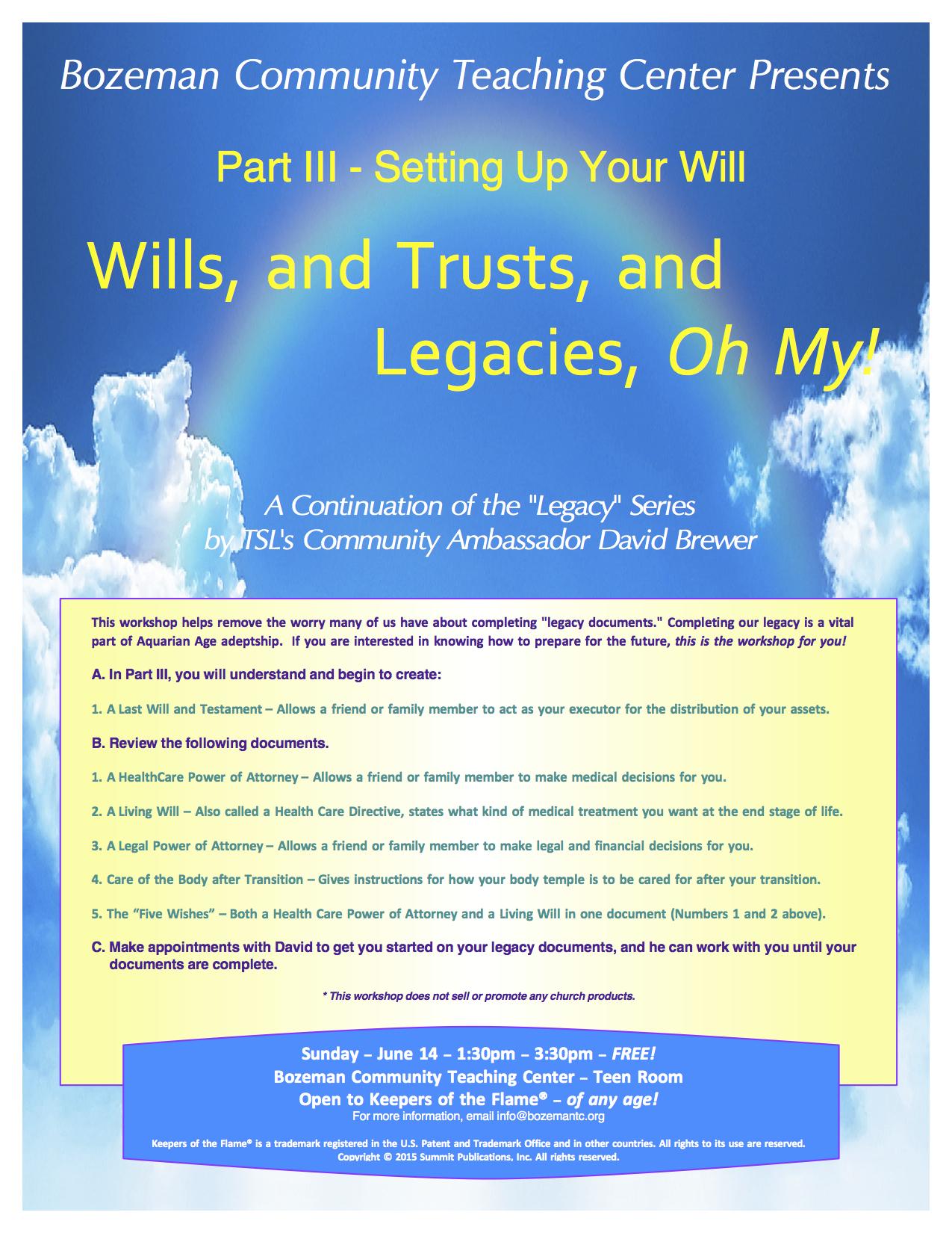 Part III - Wills